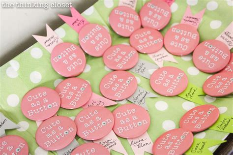 Church Baby Shower Ideas by Quot As A Button Quot Baby Shower Creative Ideas To Inspire