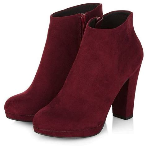High Heels Premium Wine E599 2 wine zip side heeled boots shoes fashion trends