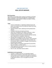 Real Estate Description by Real Estate Broker Description Template Sle Form Biztree