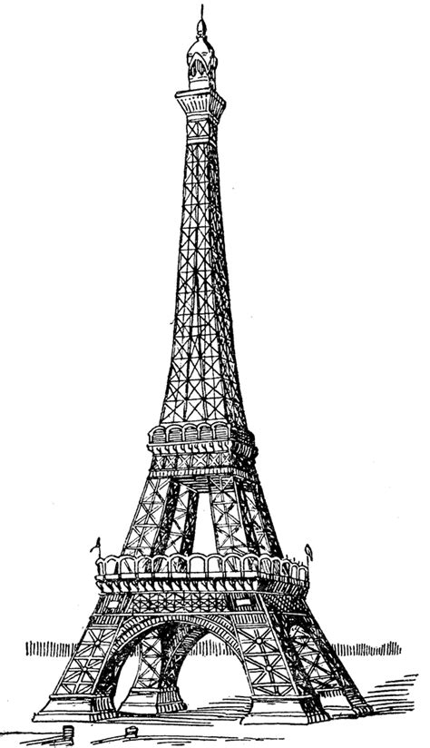 printable coloring page of eiffel tower eiffel tower coloring pages pinterest