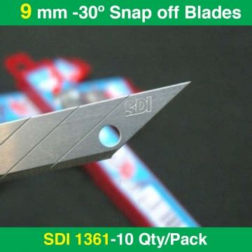 Pen Paper Sdi Cutter Refill 1361 sdi 1361 30 degree snap blades 10qty pack rt media solutions