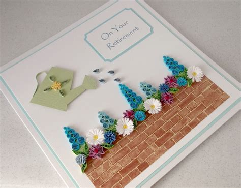 Handmade Retirement Card - paper cards quilled retirement card
