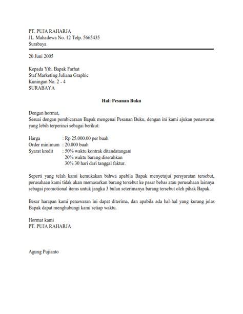 Contoh Surat Penawaran Semi Block Style by Kumpulan Bentuk Surat Lengkap