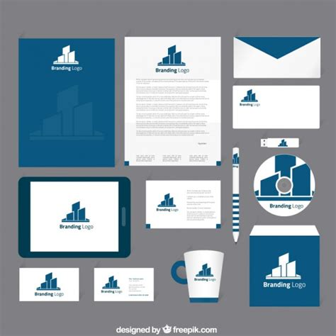 corporate identity card template psd corporate identity template psd free printable