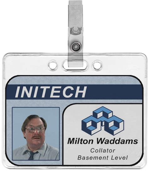 employee badge template initech milton waddams employee badge by tacoapple99 on