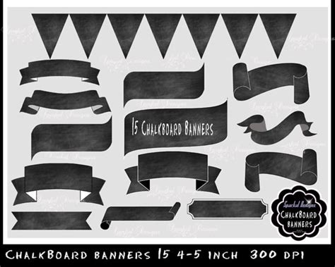 printable chalkboard banner items similar to chalkboard banner chalkboard flourishes