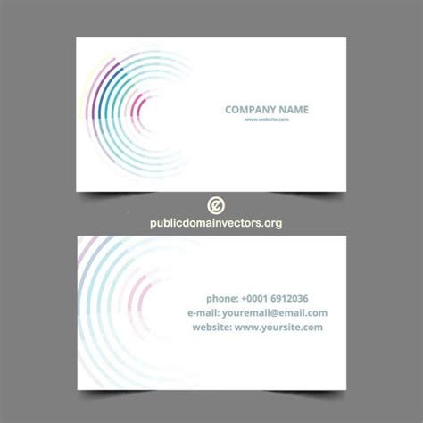 card company floating business card template at vectorportal