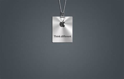 Kaos Apple I Am A Mac Think Different обои think different apple mac серый лого картинки на рабочий стол раздел hi tech скачать