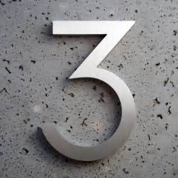 What S The House Number Modern House Numbers Aluminum Modern Font Number Three