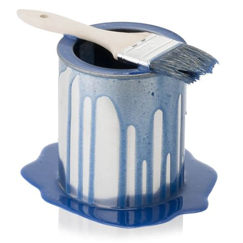 blue i can paint can blue spilled