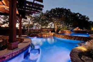 Hardscape Designs For Backyards Open Water Southlake Tx Tropical Pool Dallas By