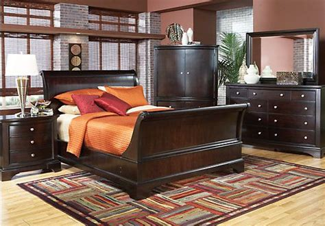 rooms to go bedroom set shop for a whitmore cherry sleigh 8 pc bedroom at