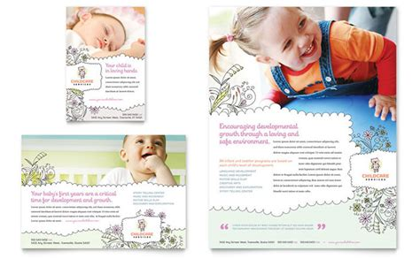 daycare brochure template babysitting daycare flyer ad template design