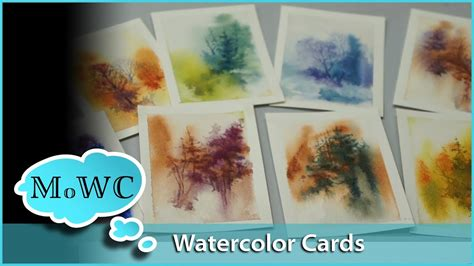 youtube watercolor christmas cards tutorials painting watercolor greeting cards and trading cards