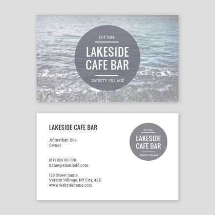 cafe business card template cafe bar circle logo business card template