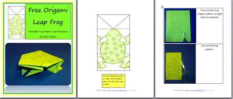 Origami Frog Printable - blogfish free printable origami frog pattern for