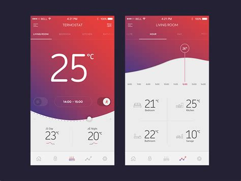 application design concepts termostat app by martin strba dribbble