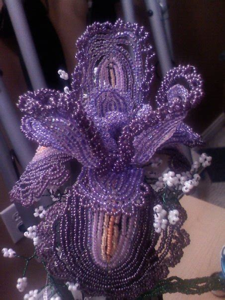 Wire Beaded Iris By Spritzykins On Deviantart