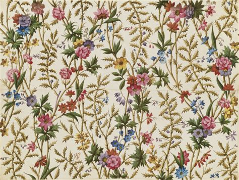 flower pattern dress fabric design kilburn william v a search the collections