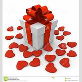 Valentine's Day Gift Box With Small Hearts Royalty Free Stock Images ...