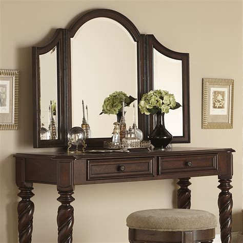 glass bedroom vanity liberty furniture arbour place vanity set with mirror