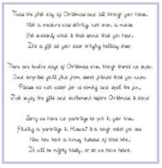 12 days of christmas gifts poems 1000 images about 12 days if ideas on 12 days gift ideas and