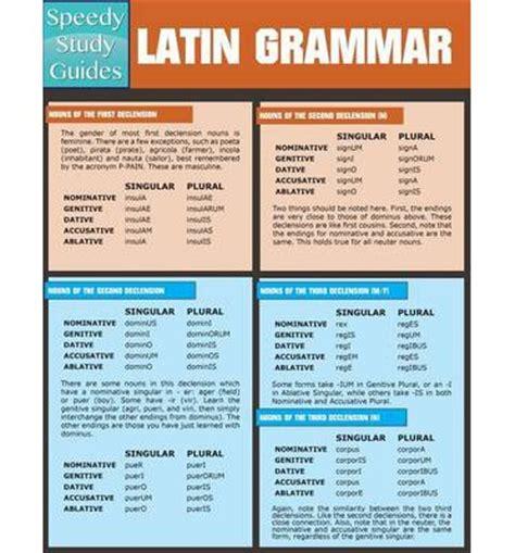 libro latin grammar reference guide latin grammar speedy publishing llc 9781632879172