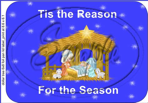 tis the reason for the season bright blue christmas