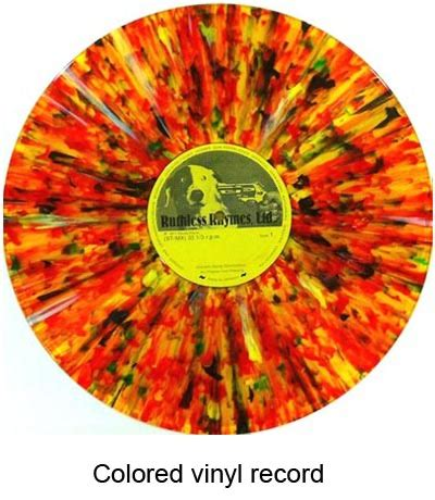 colored vinyl colored vinyl records are popular with collectors