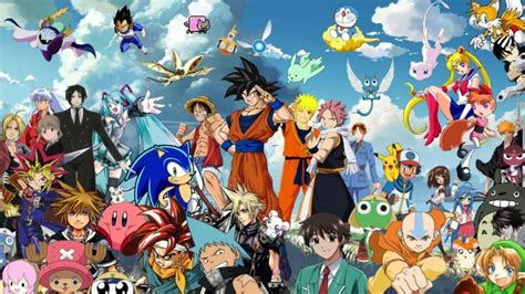 D Anime Character by All Anime Characters Wallpaper Together 1024x575 By