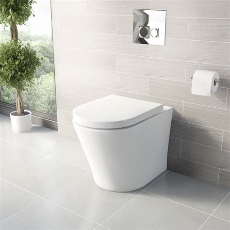 Happy Home Designer New Furniture arc back to wall toilet including soft closing seat