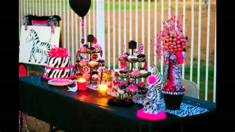 zebra themed birthday party at home zebra themed party decorations youtube