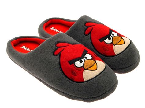 bird slippers mens boys angry birds novelty slippers mules gift present
