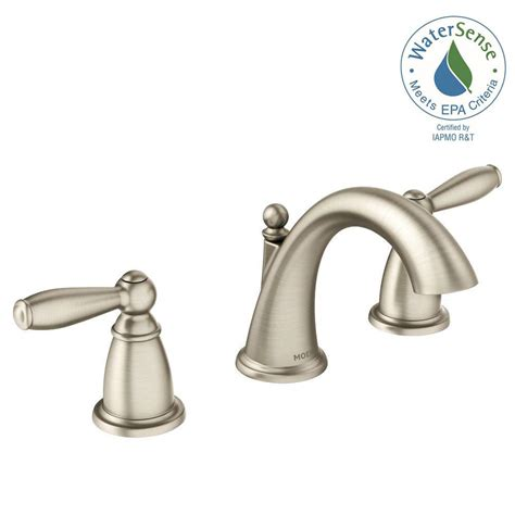 Bathroom Faucet Brushed Nickel by Moen Brantford 8 In Widespread 2 Handle High Arc Bathroom Faucet Trim Kit In Brushed Nickel