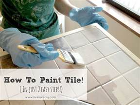 painting kitchen tile countertops livelovediy how to paint tile countertops