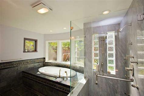 black master bathroom master bathroom with black tile and granite