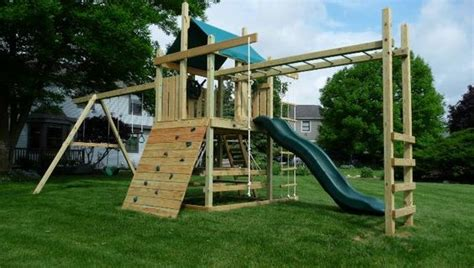 Backyard Monkey Bars by Outdoor Playsets With Monkey Bars Plans Wooden Swing