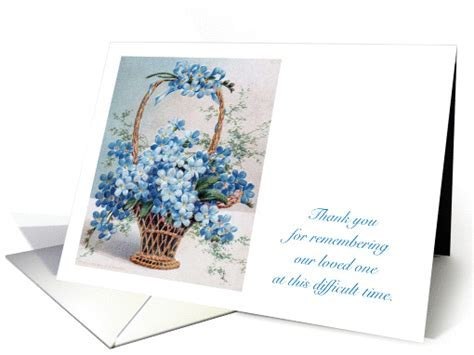 Thank You, Sympathy, Forget Me Not Flowers card (1008079)