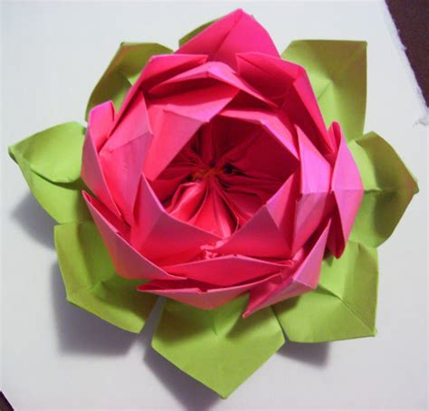 How To Make A Lotus With Paper Origami Lotus Flower 171 Embroidery Origami