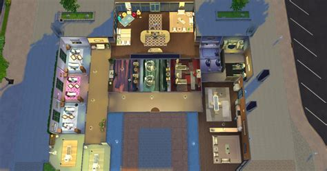 Home Design For Sims Willow Creek Hospital Added Colour And Clutter The Sims