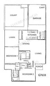 Garden Apartment Floor Plans Sun City West G7633 Garden Apartment Floor Plan