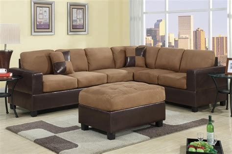 microfiber sectional sofa set view in gallery white