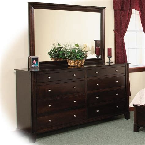 drawer dresser with mirror 8 drawer double dresser mirror w slats by daniel s