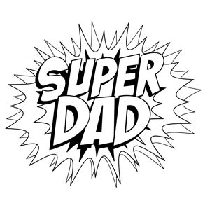 superhero dad coloring page free unique and printable father s day coloring pages for kids