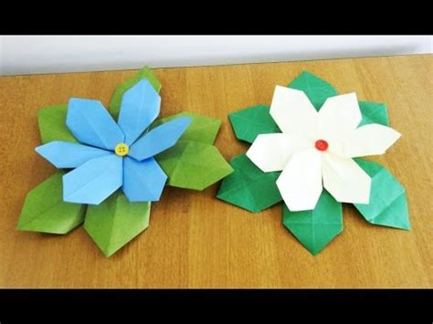 paper flower tutorial poinsettia folding