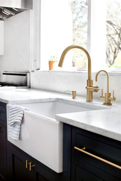 farmhouse bathroom sink faucet two toned kitchen renovation design ideas home bunch
