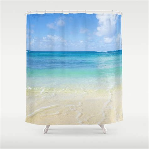 ocean shower curtains ocean shower curtain hawaiian beach shower curtain
