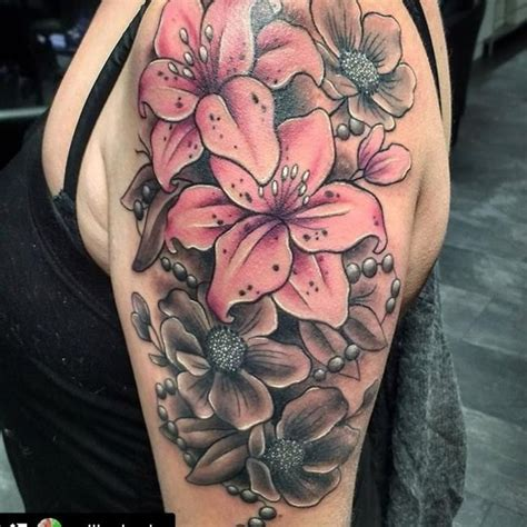 colour flower tattoo designs 80 flower designs meaning tenderness