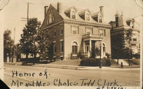 Clarke Mba Of Missouri St Louis by Home Of Mr And Mrs Charles Todd Clark St Louis Mo Postcard
