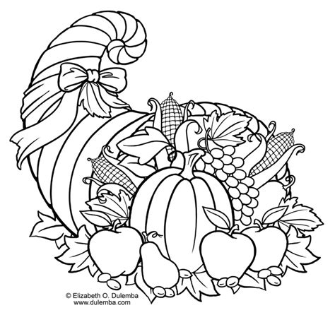 cornucopia basket coloring page free coloring pages of cornucopia